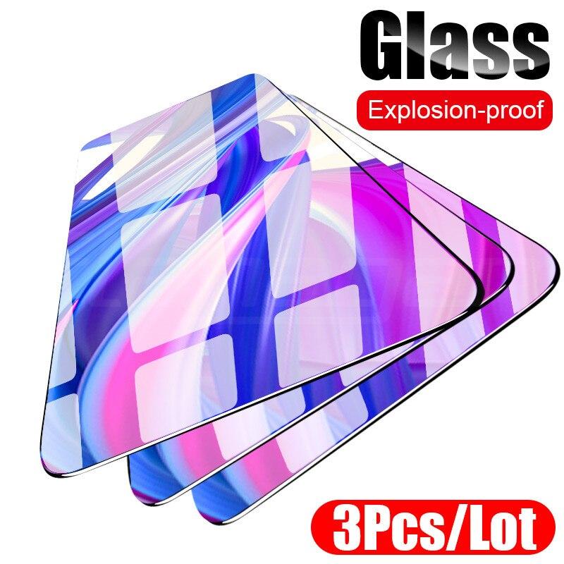 Vidrio Templado 3-1 unids/lote para Huawei Honor 9 10 20 Lite 10i 20i 8X 8A 8S, Protector de pantalla de cobertura completa para Honor 9X Pro Glass