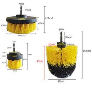 Image 5 - Щетка из полипропилена для чистки туалета, инструмент для чистки коврика, электродрели, 3 шт./компл.