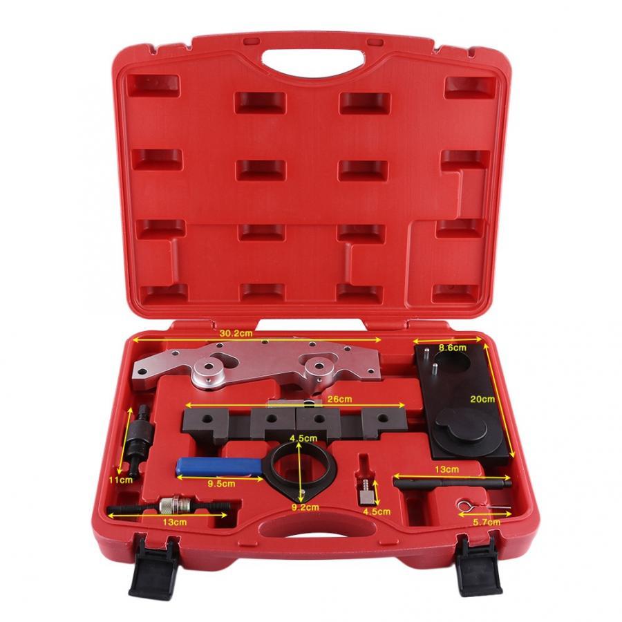 9 pçs kit de ferramentas sincronismo do motor do carro árvore de cames bloqueio configuração para m52 m52tu m54 m56 kit ferramenta sincronismo
