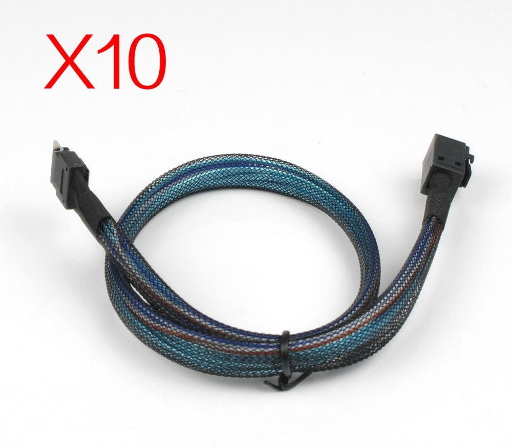 10 unids/lote MINI SAS 38P SFF-8654 38 pin a SFF8643 Cable adaptador de transmisión RAID de datos de servidor de 50CM