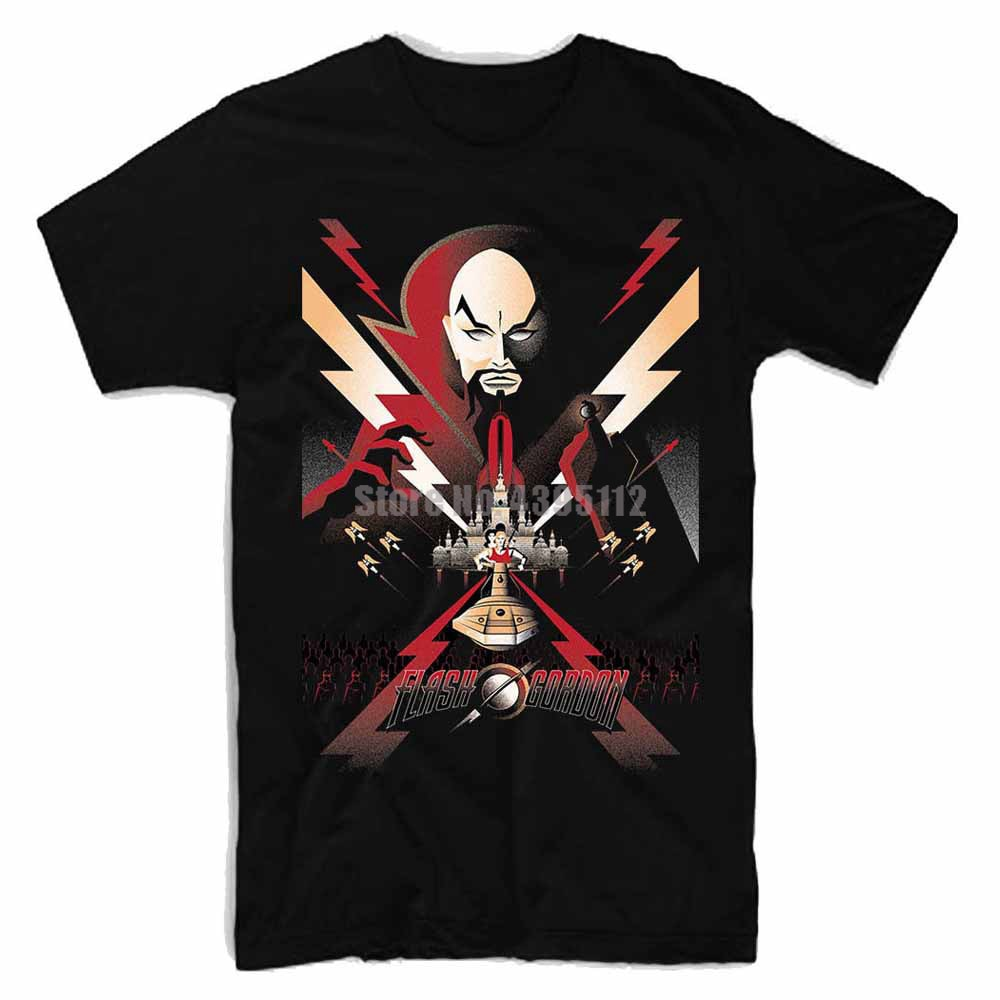 Camiseta divertida para hombre de película Flash Gordon, camiseta de moda Harajuku para hombre, camisetas 2019, camisetas de marca, camisetas para hombre