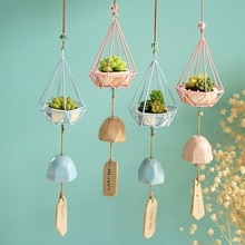 Carillons éoliens de forêt en fer forgé   Ornements en résine, décoration de maison en céramique