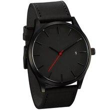 New Fashion Big Dial Military Quartz Men Watch Leather Sport Watches High Quality Clock Wristwatch m