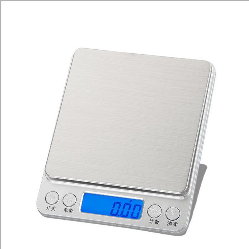 Escalas eletrônicas 0.01g/500g do peso do bolso da escala da cozinha de digitas lcd para a joia do alimento do pó que pesa a máquina