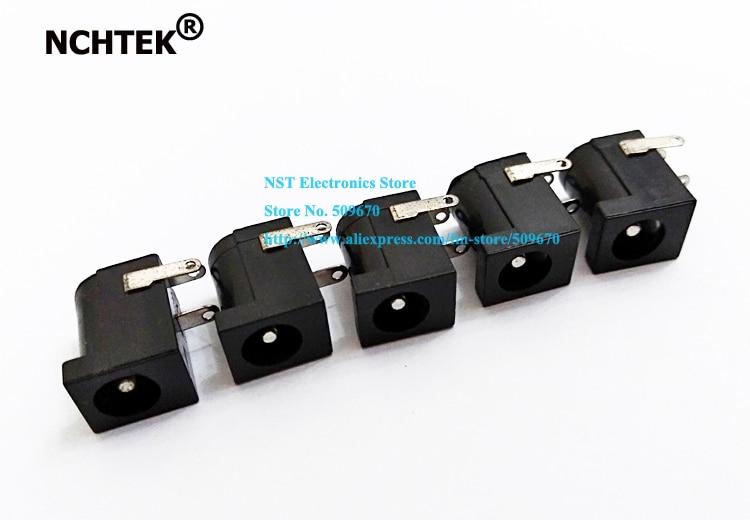 Fuente de alimentación NCHTEK DC enchufe hembra 5,5x2,1mm montaje de PCB tipo barril/envío gratis/50 Uds