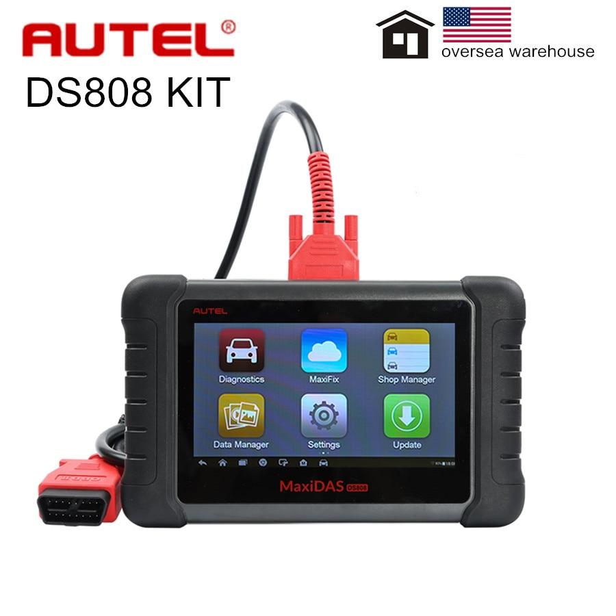 AUTEL MaxiDAS DS808K DS808, juego completo de herramientas de diagnóstico para tabletas, compatible con inyector y codificación de llaves DS808K