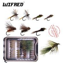 Wifreo 28 stücke Fly Fishing Forellen Bass Fliegen Kit Lockt Nass Trocken Nymph Streamer Wolligen Bummeln Terrestrials Emerger Fliegen Köder starter