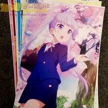 8 pièces/ensemble Anime nouveau jeu! Affiche SUZUKAZE AOBA Takimoto Hifumi mur photos chambre autocollants jouets A3 affiches de Film