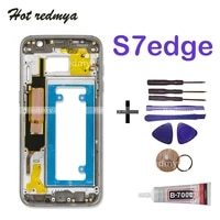 lcd middle back frame chassis plate bezel back housing for samsung galaxy s7 edge g935 g935f middle frame replacemenrt parts