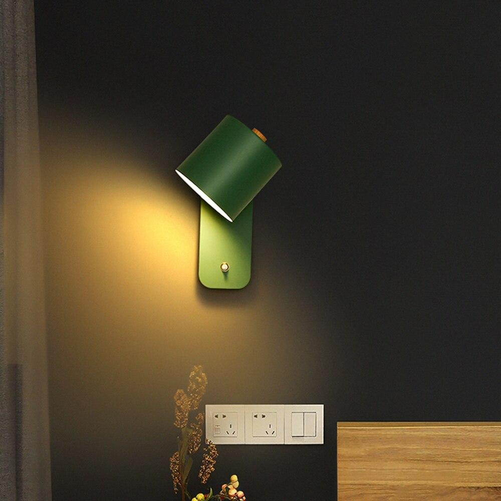 الشمال الجدار مصباح إندور الداخلية الإضاءة الخارجية الشمعدان تركيبات لغرفة النوم المعيشة السرير مصابيح المنزل LED مع التبديل الممر