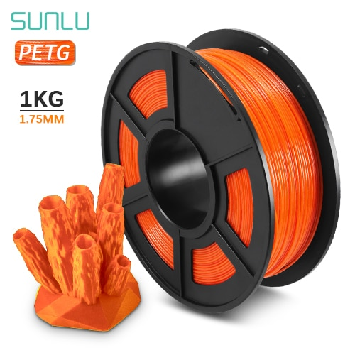 PETG 3D Printing Filament 1.75mm 1KG 2.2lb PETG 3D Printer Filament Dimensional Accuracy +/- 0.02mm Translucence Refill Red