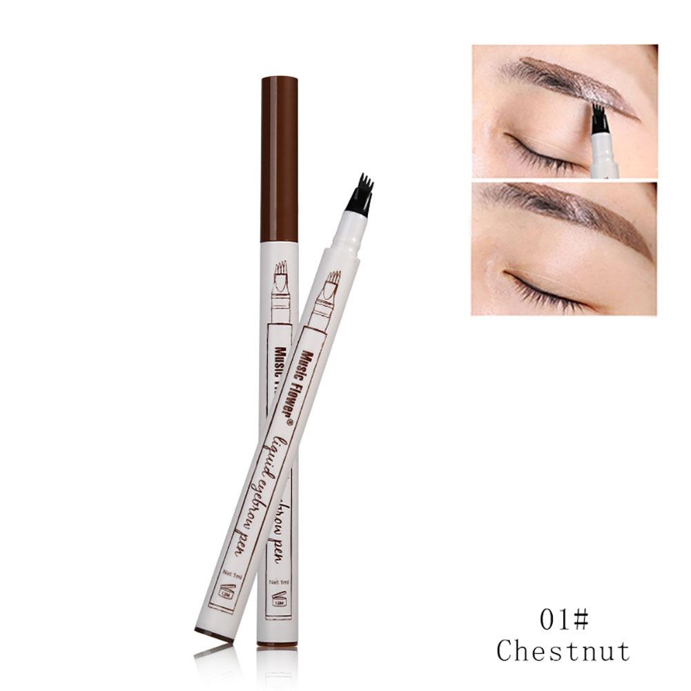 Four-headed Eyebrow Pen Easy to Draw Long-lasting Waterproof and Sweat-proof Water-based Liquid Eyebrow Pencil недорого