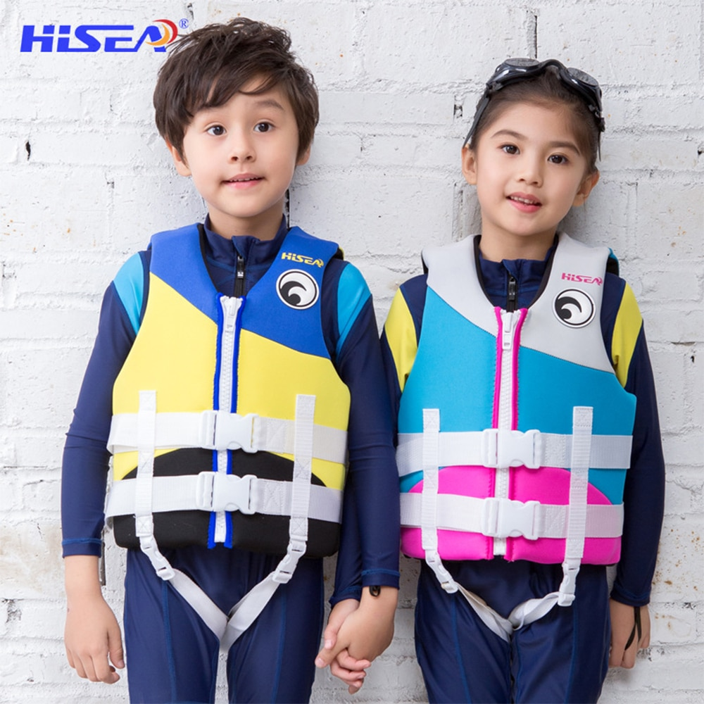 Neoprene Life Jacket Children Professional Swimming Buoyancy Vest Water Sports Kayaking Rowing Swimming Rafting Safety Life Vest