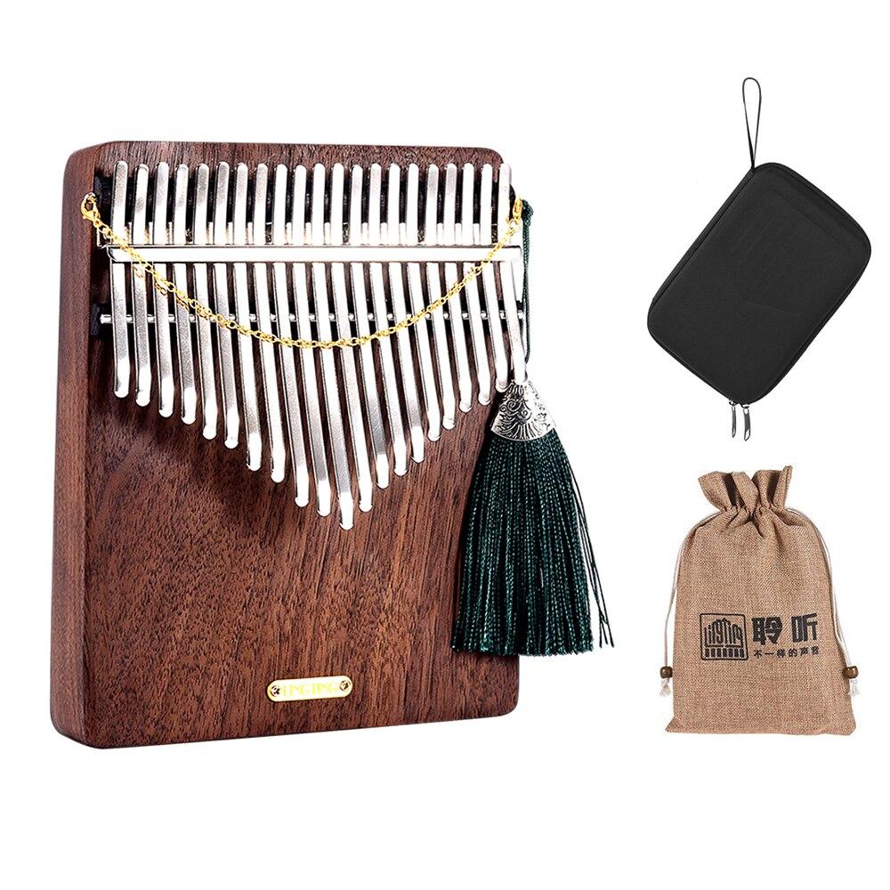 LINGTING-بيانو إبهام خشبي ، كاليمبا مبيرا ، مبيرا ، سانزا F ، لعبة ، حقيبة تخزين ، حقيبة حمل ، كتاب موسيقى ، ملصقات K21W 21 مفتاح كاليمبا