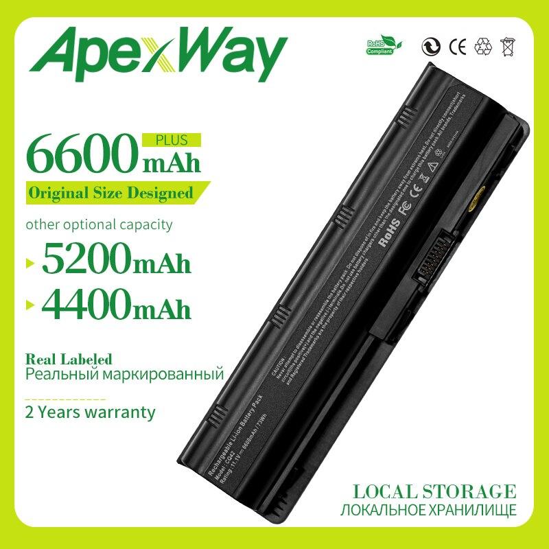 Apexway MU06 593553-001Laptop de la batería para HP Compaq Pavilion DM4 DM4T CQ42 hstnn-lb0w G6 G4 G61 G7 MU09 NBP6A174B1 HSTNN-UB0W