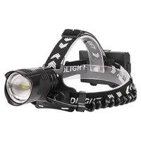 boruit xhp90 2 led headlamp super bright 5000lm 3 mode zoom headlight usb charger 18650 head torch camping hunting flashlight