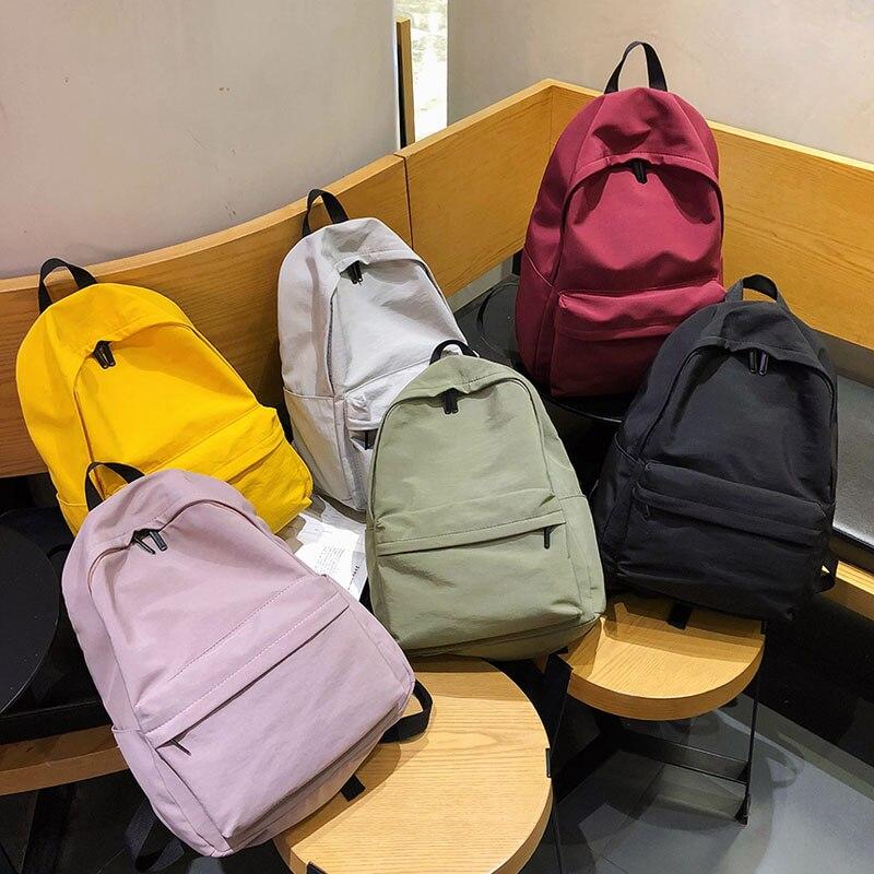 HOCODO Women's Backpack 2020 Waterproof Nylon Bag Backpack For Women Big Women School Bags For Teenage Girls Shoulder Bags