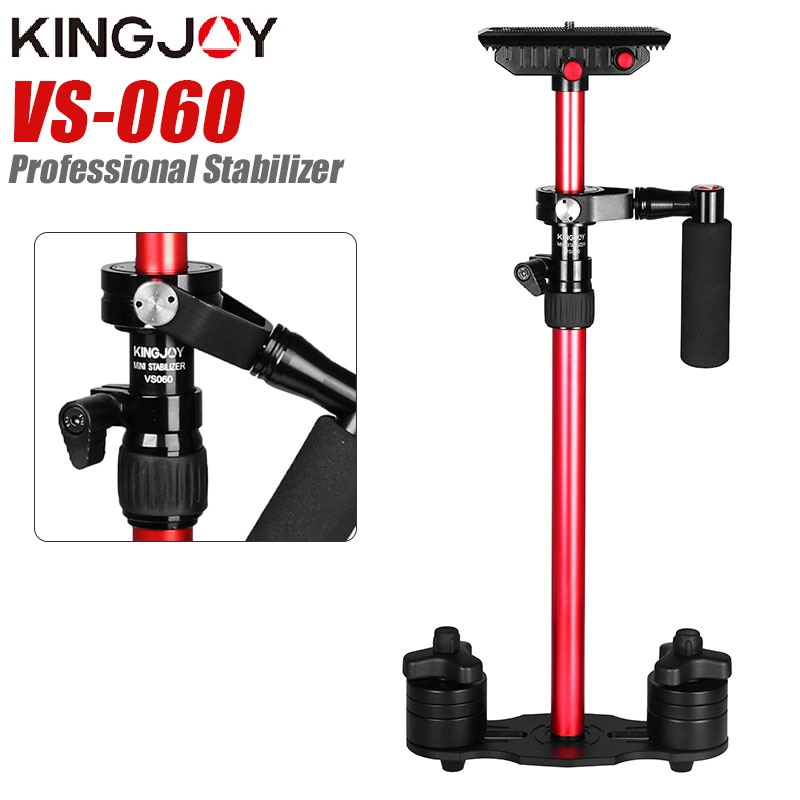 KONGJOY VS060 60cm Aluminum Alloy Handheld Video Stabilizer For Steadycam Steadicam Stabilizer For Canon Nikon Sony DSLR Camera