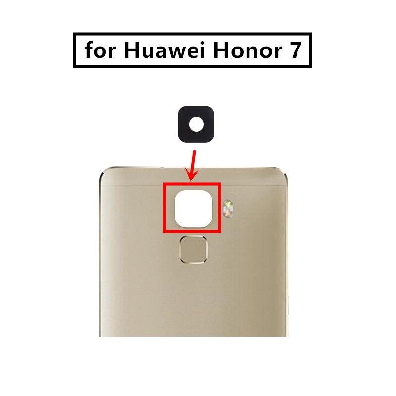 Lentille en verre pour huawei honour 7, 2 pièces, avec colle, pièce de rechange