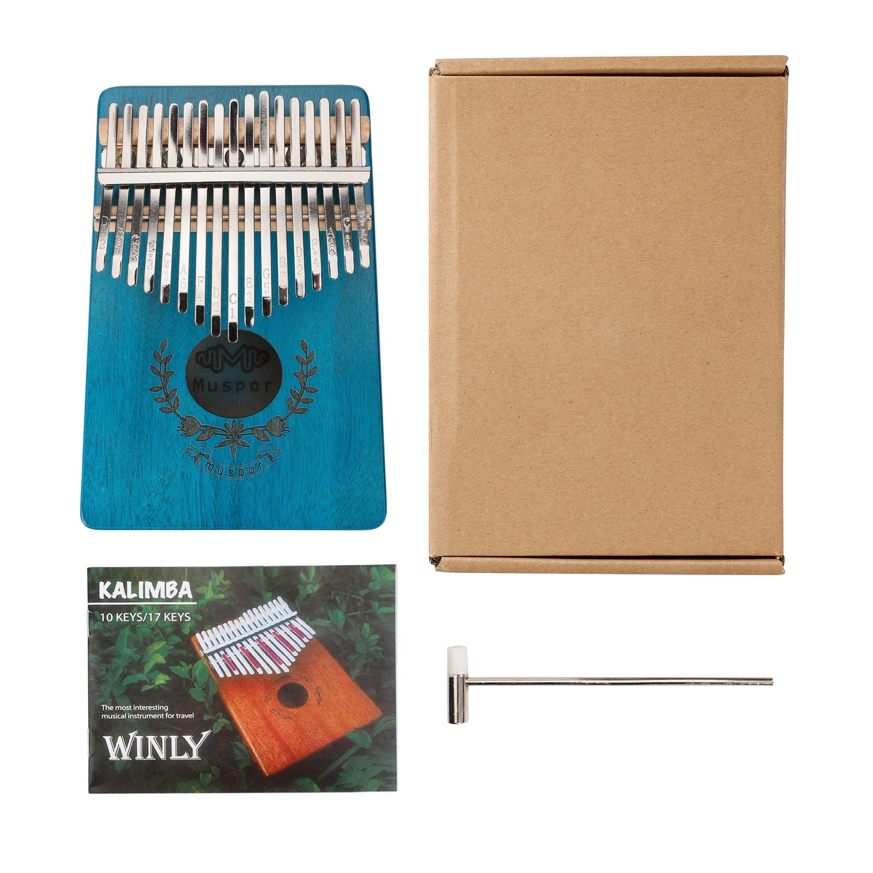 Muspor 17 Keys Veneer Mahogany Thumb Piano Mahogany Kalimba Musical Instruments (garland Style) enlarge