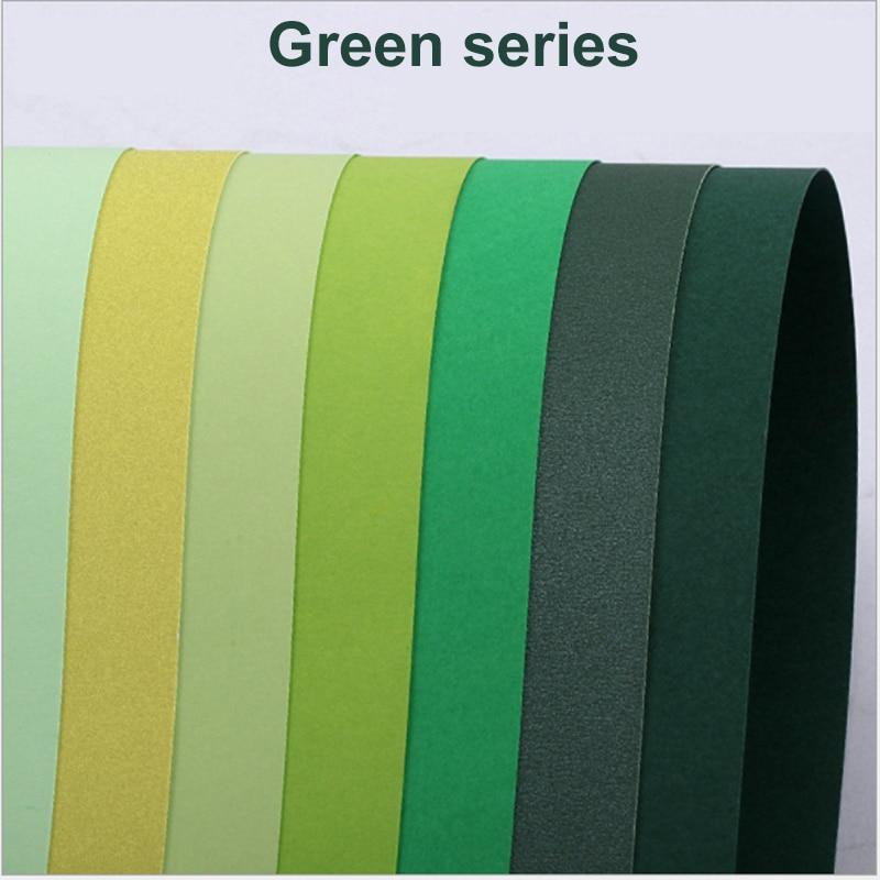 Green Series Cardboard Thicken 230-250g Handmade Cardboard Greeting Card Painting Paper-cutting Greeting Card DIY Writing and Sh