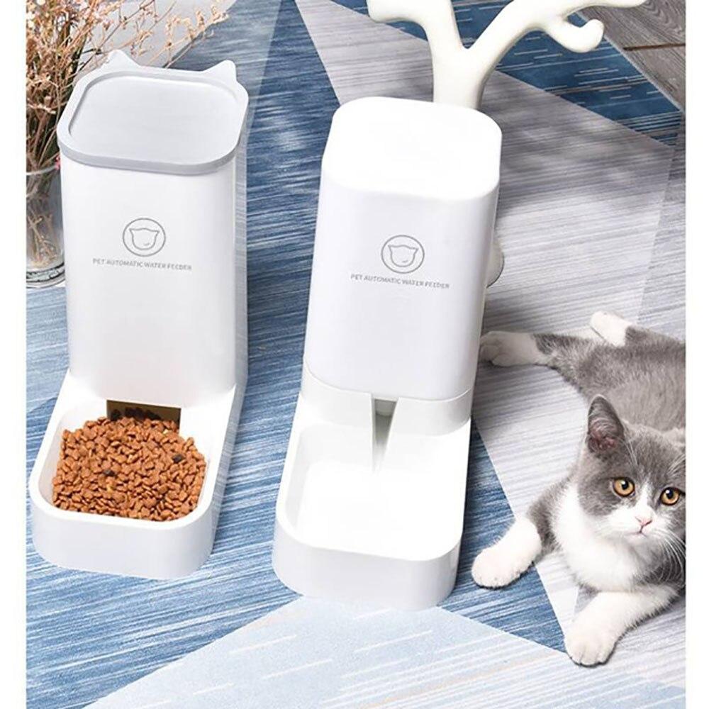 Para gatos y perros de alimentadores auto dosificador de agua para perro...