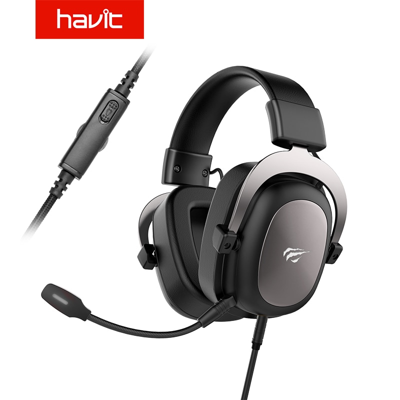 HAVIT Wired Headset Gamer PC 3.5mm PS4 Headsets Surround Sound & HD Microphone Gaming Overear Laptop