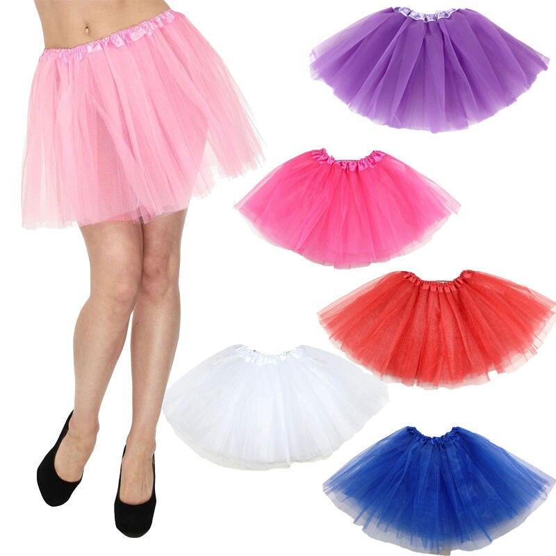 Горячая Женская милая пушистая взрослая Новинка разноцветная юбка женская Тюлевая балетная мини бальная юбка-пачка