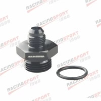 6an to 10an 78 14 unf straight o ring adapter fitting black