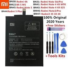 Xiao Mi Original de la batería del teléfono para Xiaomi Redmi nota 3 5 pro 3S 3X 4 4X 4A 5A 5 Plus Mi 5 Mi5 M5 primer S2 de baterías de reemplazo