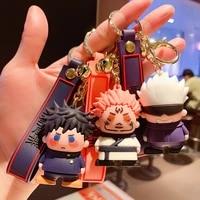 anime jujutsu kaisen keychain gojo itadori fushiguro kugisaki sukuna bag pendant key chains fans cosplay gift collection props
