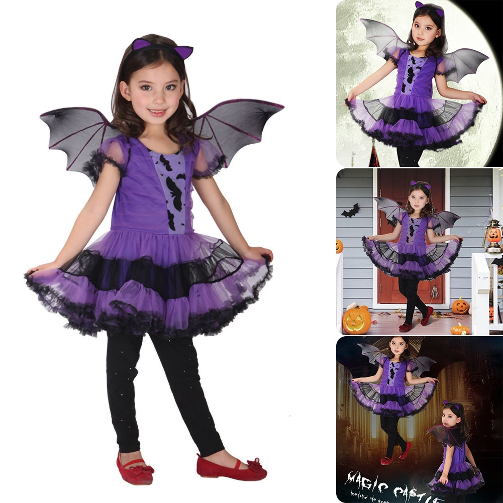 halloween children s costume cosplay girl horror vampire death ghost clothes little witch long sleeve costume girls prom dress halloween costume for kids baby girls children vampire witch costume girl cosplay Carnival Party princess fancy dress up clothes