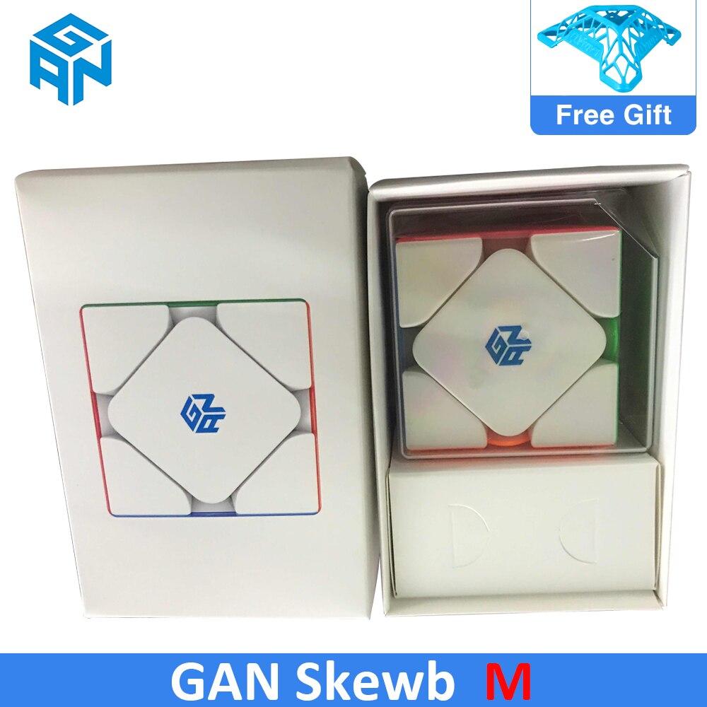2020 gan magnético skew cubo gan356 xiezhuan m velocidade cubo gan oblíquo torneamento cubo mágico quebra-cabeça gan skewbm cubo para crianças