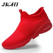 2020 hommes chaussures décontractées respirant maille baskets hommes léger rouge mode chaussures dété Slip-on unisexe grande taille marche chaussures