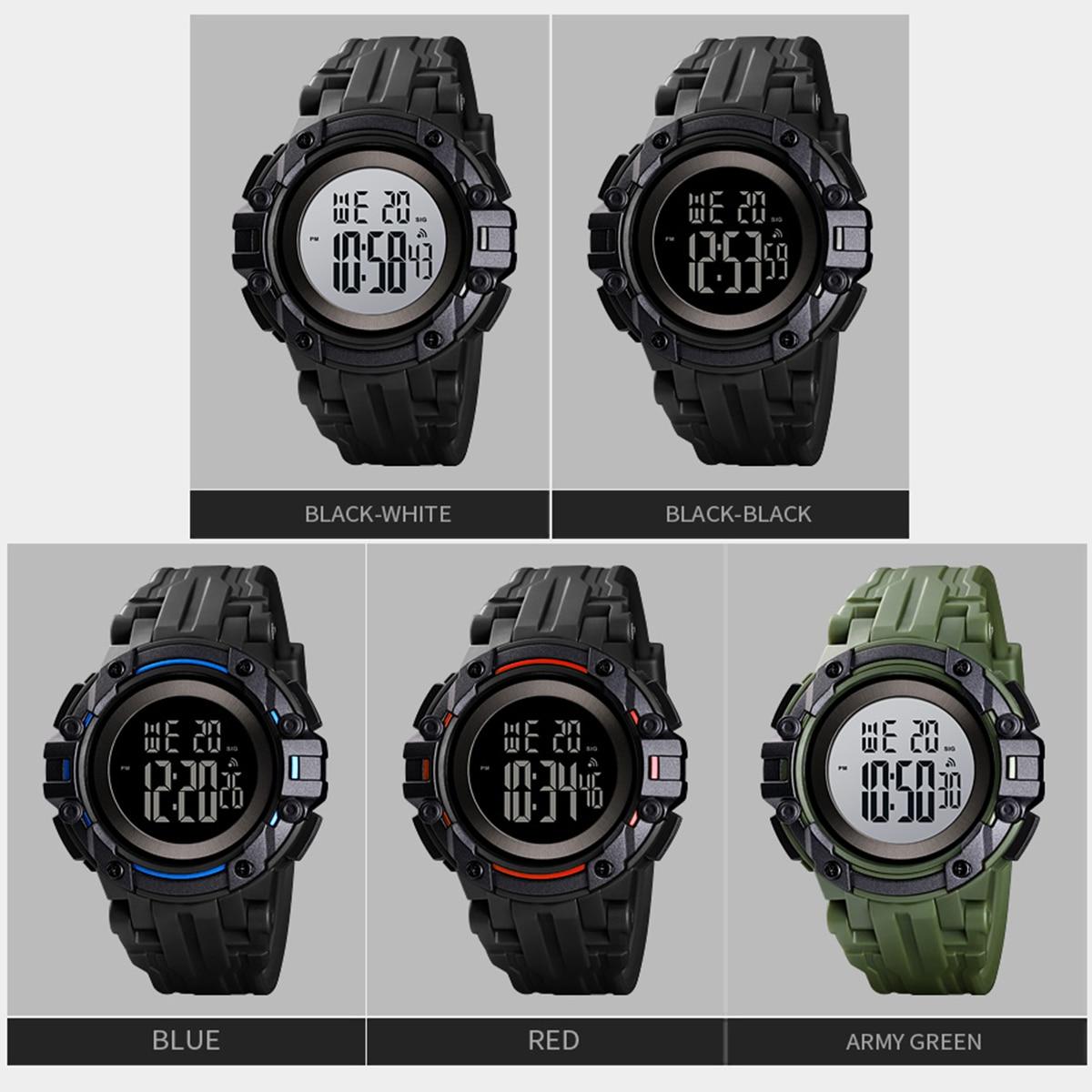 Waterproof 50M Sports Watch Cool style EL light Watches Men Military Army Mens Watch Digital Wrist Watch Stopwatch