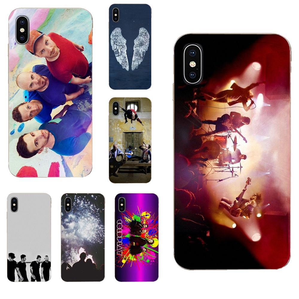 Para Xiaomi Redmi Mi 4 7A 9T K20 CC9 CC9e Nota 7 8 9 Y3 SE Pro primer jugar transparente TPU caso Pop Rock Bnads Coldplay