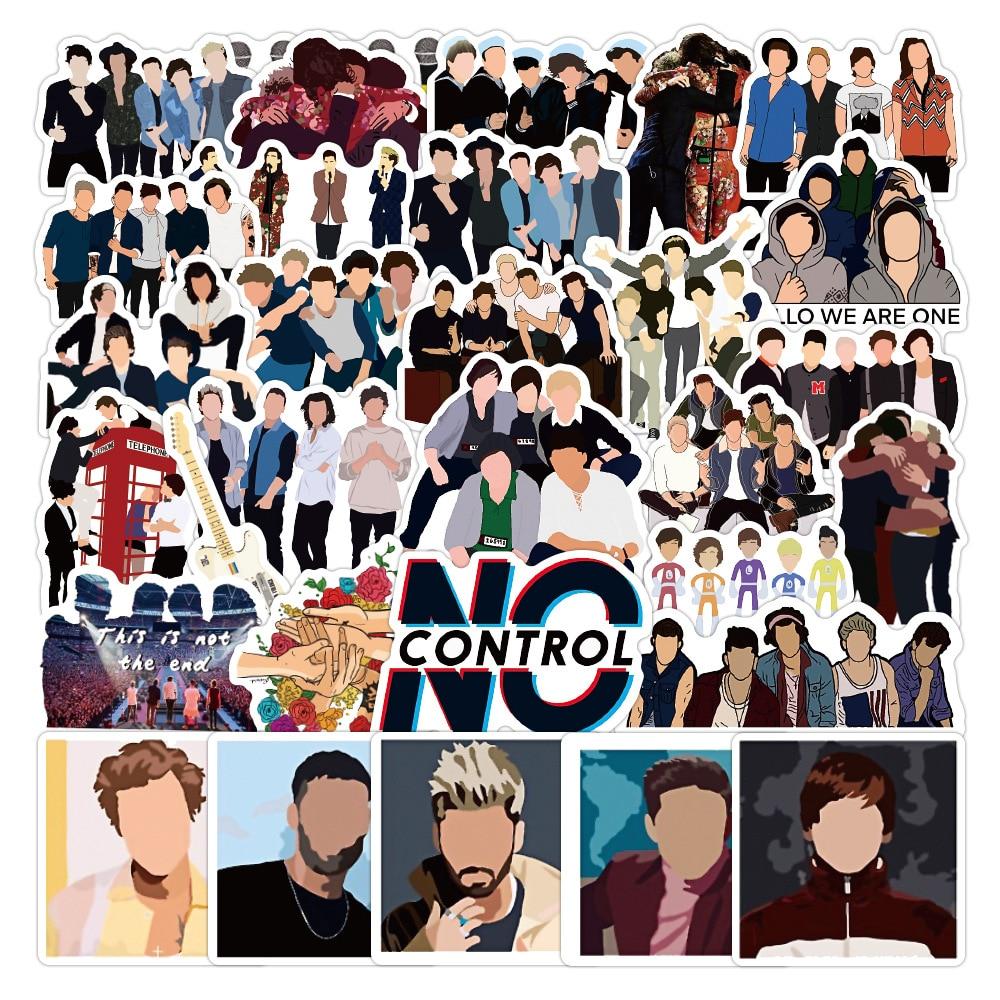 10/50 шт. без повторения One Direction ленточная наклейка Idol певец группы