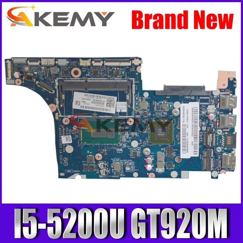 Akemy For Lenovo LA-C311P U31-70 laptop Mainboard LA-C311P Motherboard with I5-5200U GT920M
