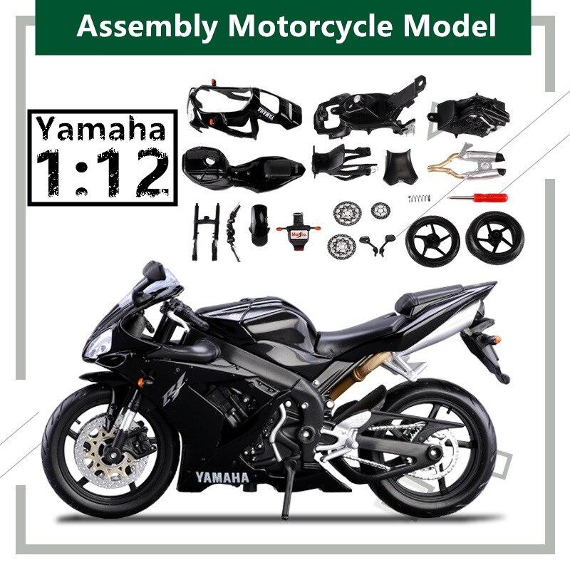 Maisto 1:12 Assembled Yamaha R1 original authorized simulation alloy motorcycle model toy car Collecting