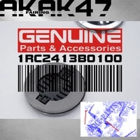 for yamaha mt 07 fz07 mt07 abs 2019 2020 2021 2022 logo sticker decal three dimensional logo badge 1rc2413b0100 silver