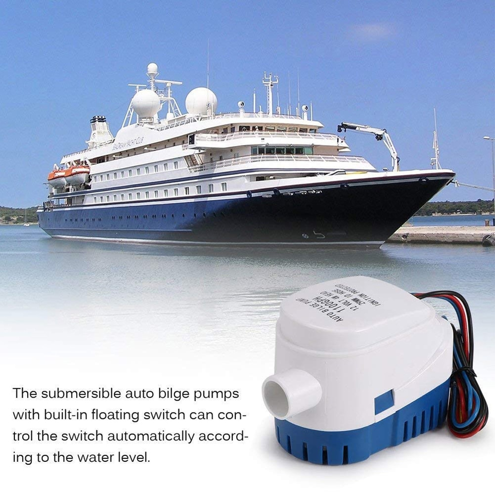 750gph 1100gph automatic boat bilge pump 12v 24v dc submersible electric water pump small 12v 750 1100 gph auto fast delivery Automatic Submersible Boat Bilge Water Pump 12V 1100GPH Auto with Float Switch Wholesale Quick delivery CSV