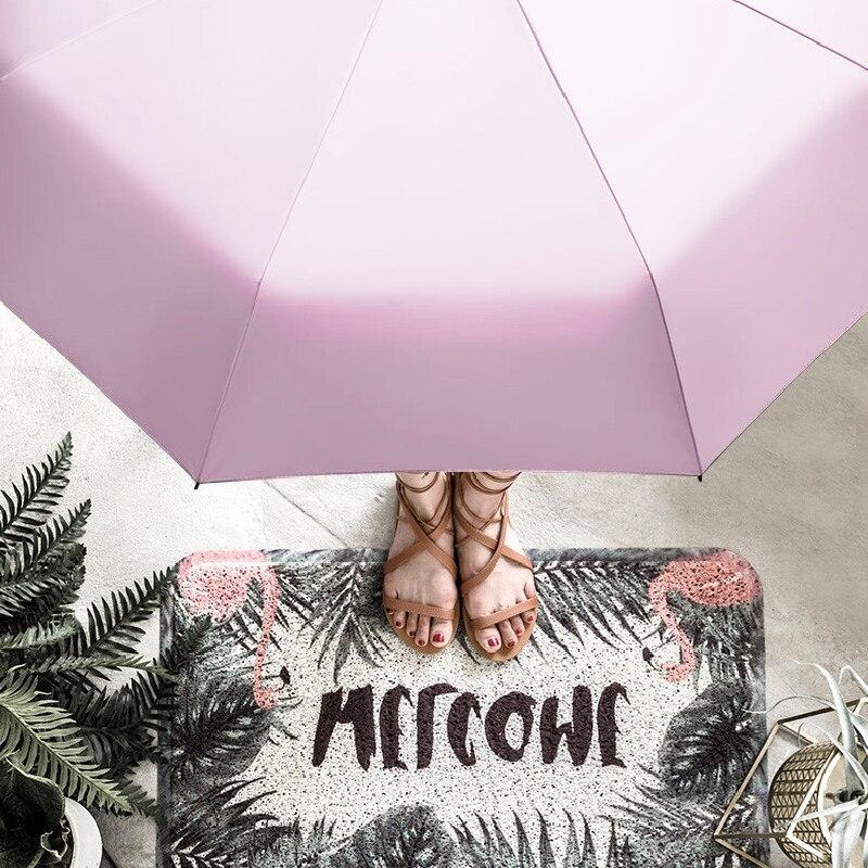 Five-holding Sun Umbrella Sun Protection UV Folding Umbrella Female Sunshade Rain Dual-use Capsule Compact Portable Pocket enlarge