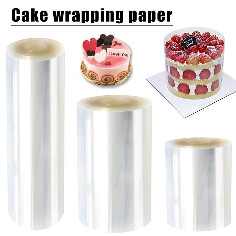 Ошейник для торта, пластиковый ошейник для торта «сделай сам», прозрачные листы для торта, окружающий край, прозрачные полоски для выпечки ...