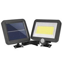 100LED COB Solar Lamp PIR Motion Sensor Waterproof Outdoor Path Solar Garden Light Energy Saving Street Wall Lamp Night Lighting