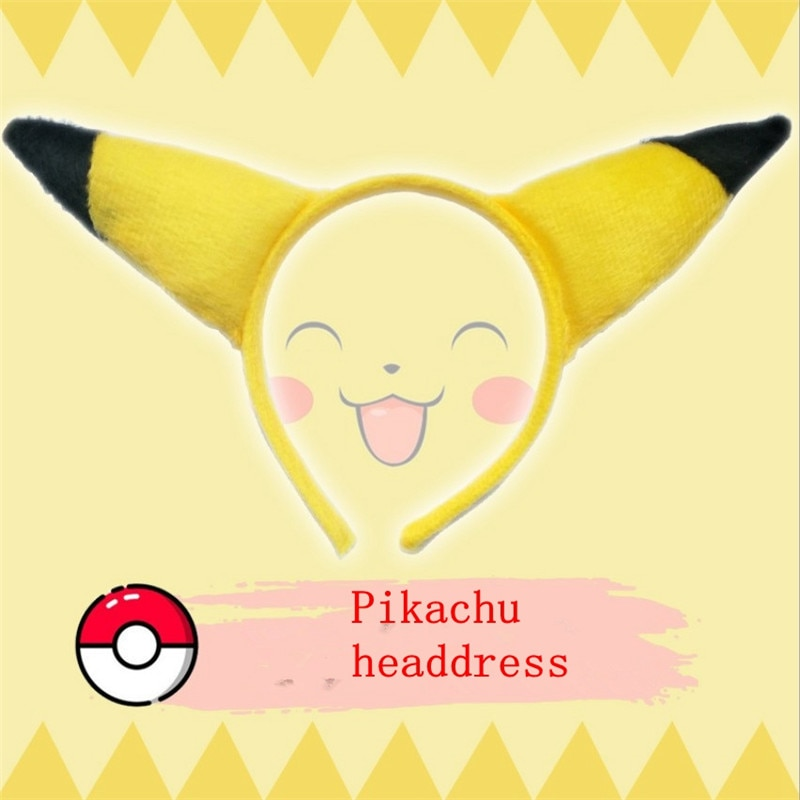 Anime Pokemon Go cosplay pikachu rabbit frog Cute kawaii female Headdress Hair hoop ear Lolita animal Clothing accessories props