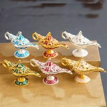 1Pcs 12cm Aladin Lamp Ornament Antique Aladin Magic Lamp Collectible Easter Genie Lamp Souvenir For Home Decor Kid Chrismas Gift