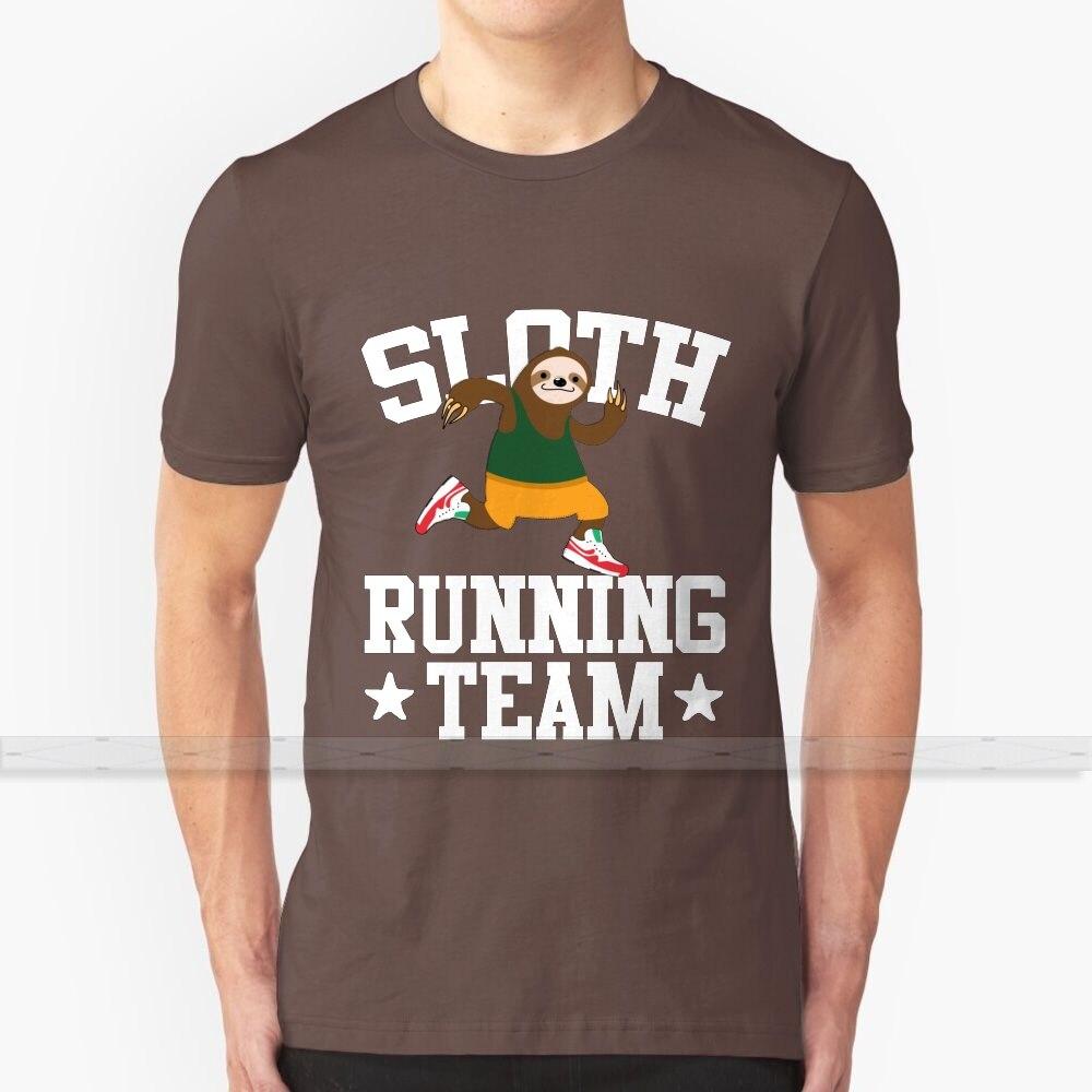 Perezoso corriendo equipo T - Shirt de los hombres de la mujer verano 100% camisetas de algodón parte de arriba nueva Popular T camisas corriendo corredor correr regalo