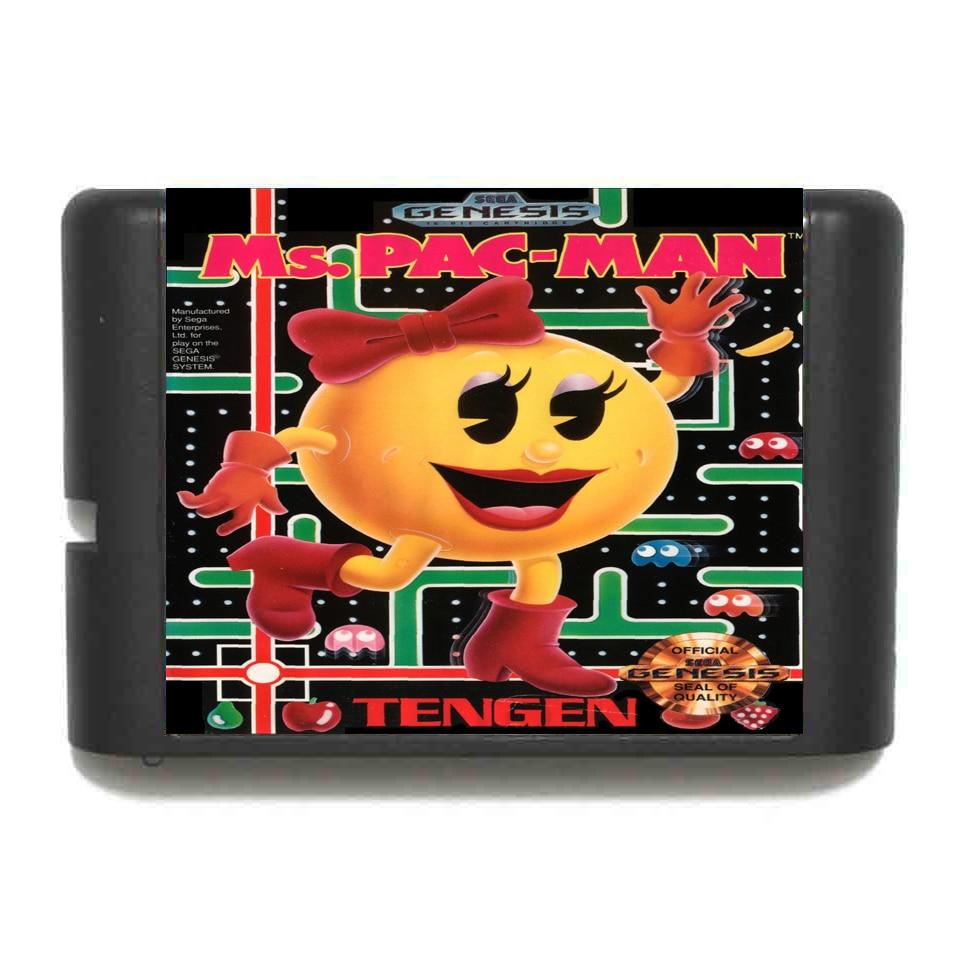 La Pac-Man 16 bit tarjeta de juego MD para Sega Mega Drive para Génesis