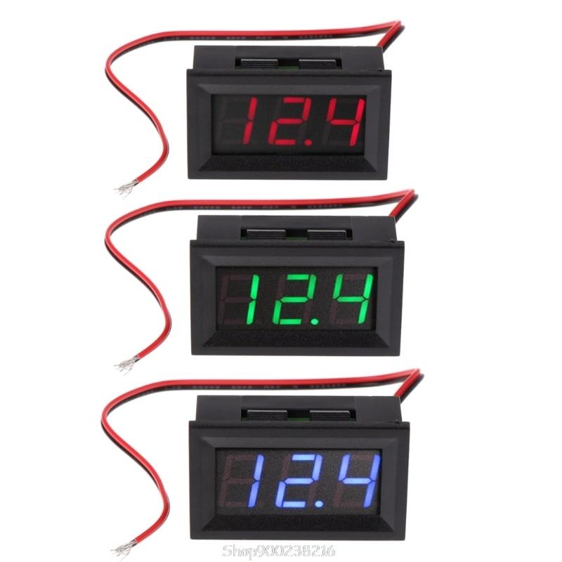 "Voltímetro Digital DC 4,5 V-30V 0,56  ""LED de 2 cables voltímetro de voltaje calibre de Panel Au29 20 Dropship"