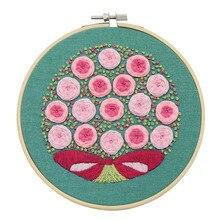 Pour Kit de broderie de démarrage débutants artisanat amoureux adultes motif de fleurs